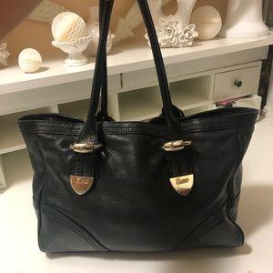 Authentic Gucci black leather large bag